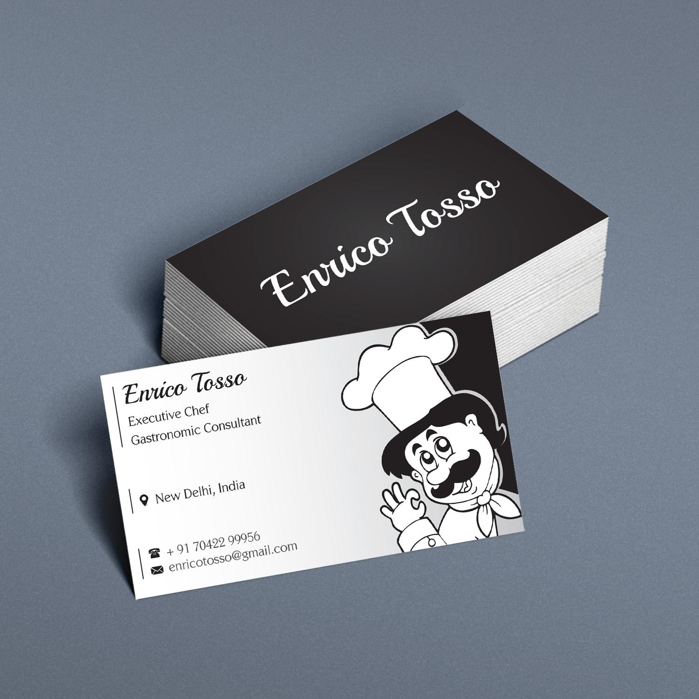 Elegant playful business card design for enrico tosso by kreative business card design by kreative fingers for chef business card presentation card design 11365253 magicingreecefo Image collections