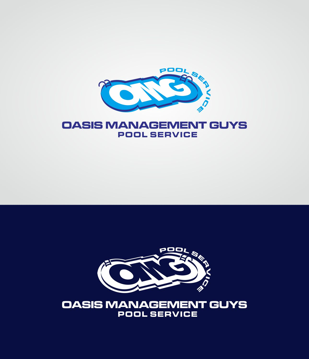 Bold Upmarket Logo Design for OMG Pool by Nusantara Studios