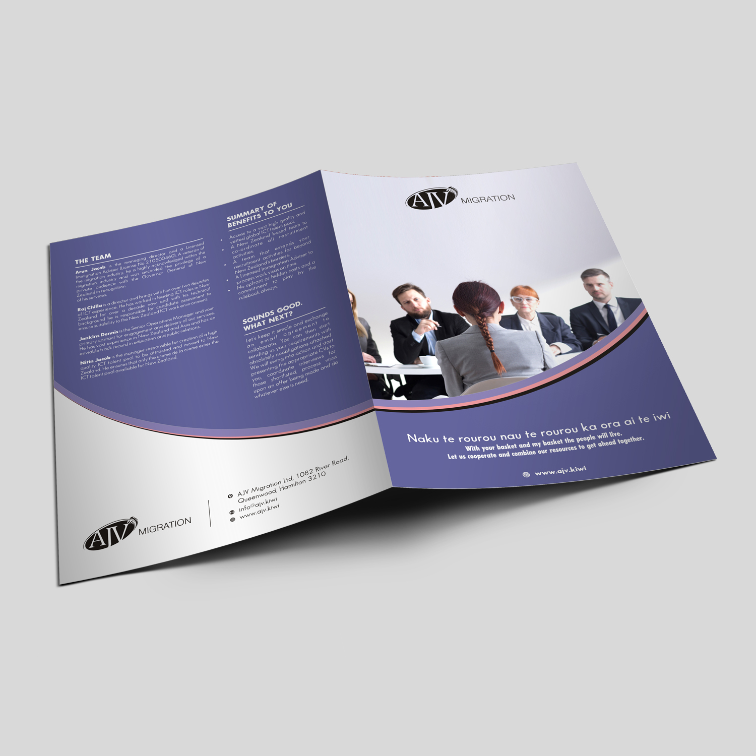 Modern Professional Communication Brochure Design For A Company By