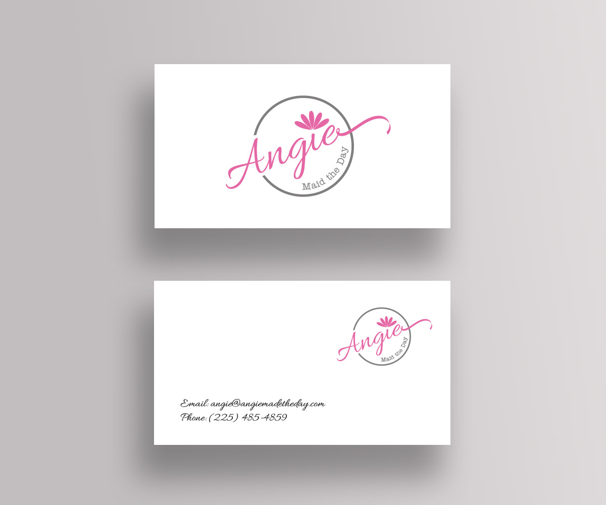 Feminine, Modern, Cleaning Service Business Card Design for Angie ...