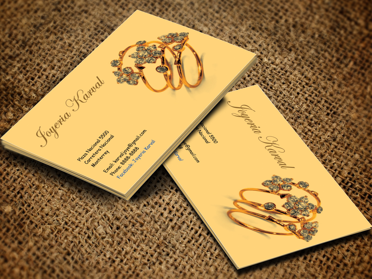 Serious Conservative Jewelry Store Business Card Design