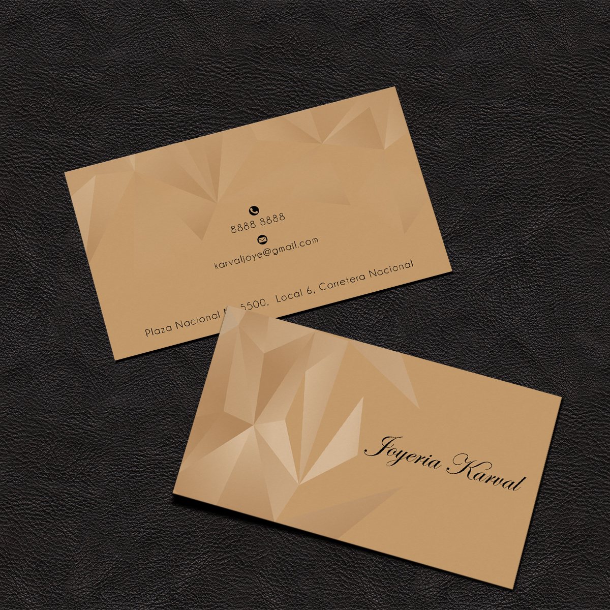 Serious conservative jewelry store business card design for business card design by grafactory for joyeria karval design 11358375 reheart Gallery