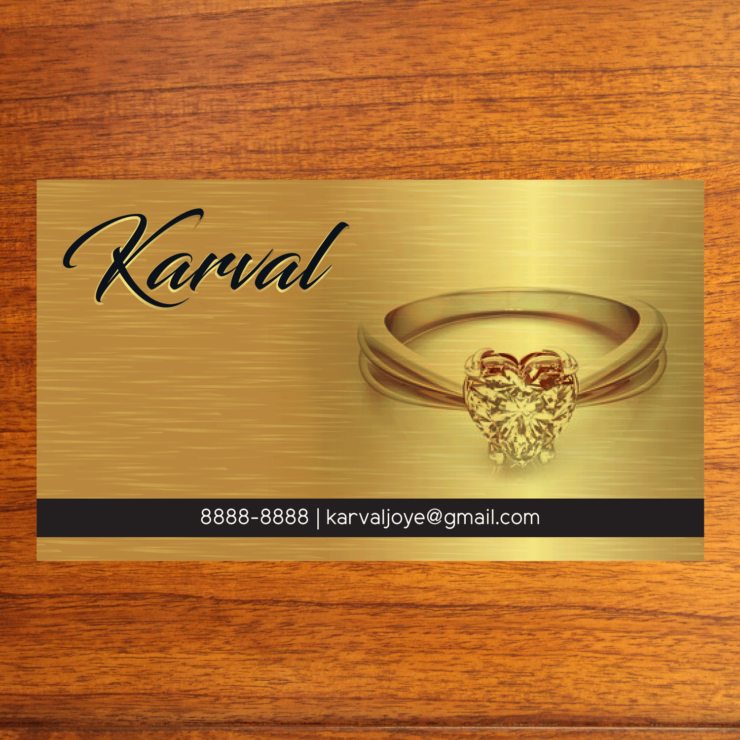 170 serious conservative jewelry store business card