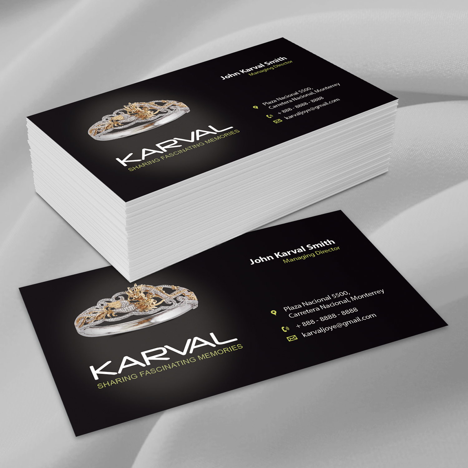 Fine Jewelry Store Business Cards Gallery - Business Card Ideas ...