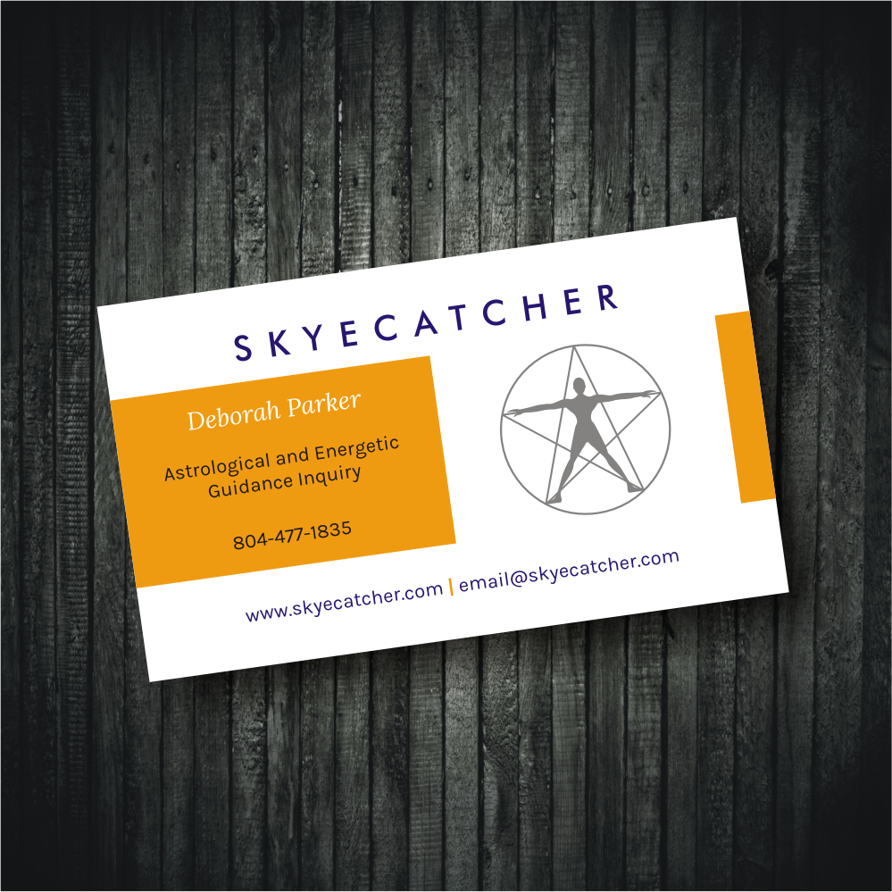 Feminine colorful business card design for skyecatcher by business card design by rhalder4 for spiritual journeyer astrologer reiki master underground music magicingreecefo Images