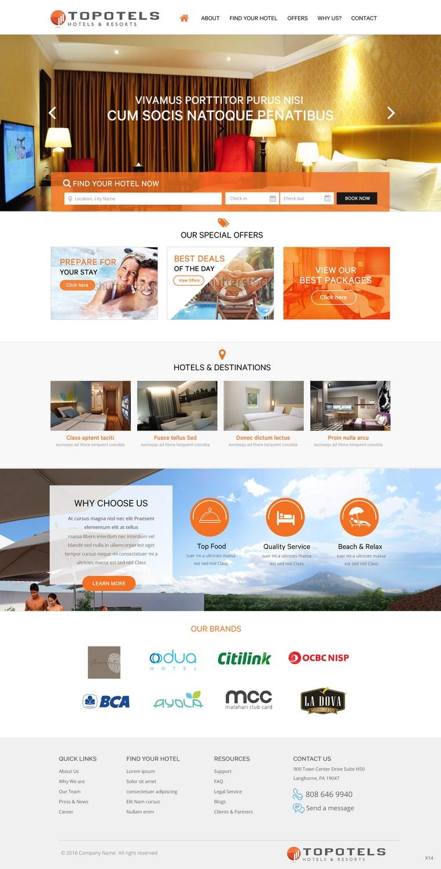 Modern Elegant Hotel Web Design For Topotels Hotels Resorts In Indonesia 11344397