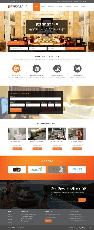 Modern Elegant Hotel Web Design For Topotels Hotels Resorts By Pb Design 11364442