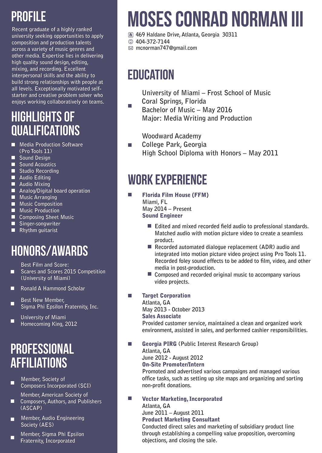 Modern, Masculine, School Resume Design for Global Peak Solutions ...