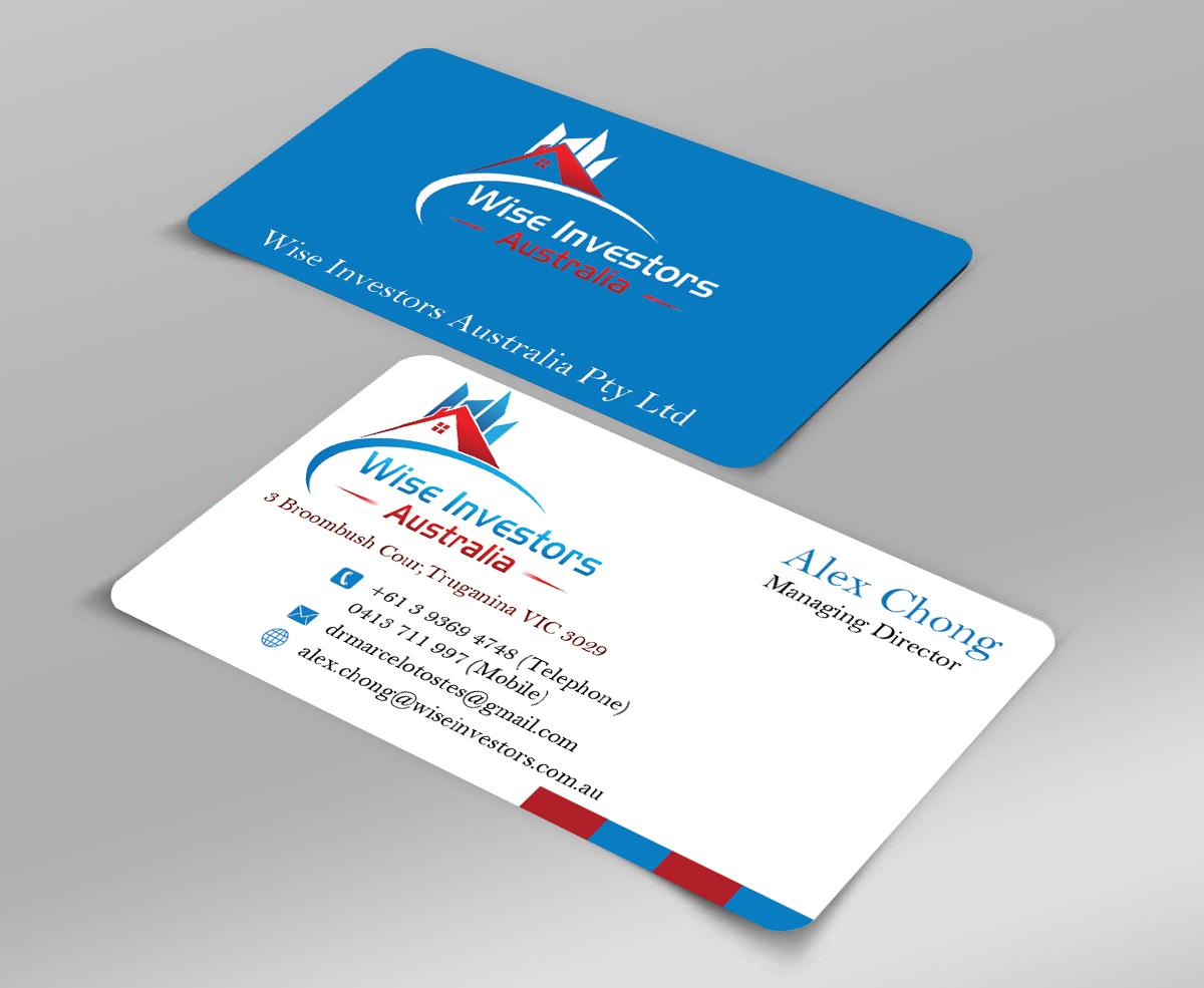 Elegant, Playful Business Card Design for Wise Investors Australia ...