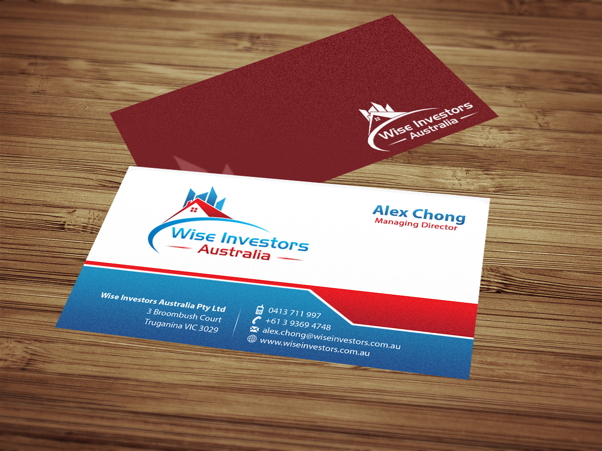 Elegant, Playful Business Card Design for Wise Investors Australia ...