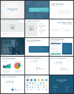 professional modern pharmaceutical powerpoint design for a company