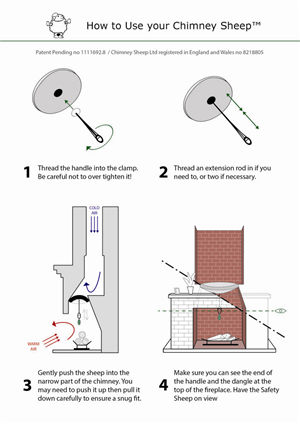 Graphic Design by Noa - Instructions for new chimney draught excluder