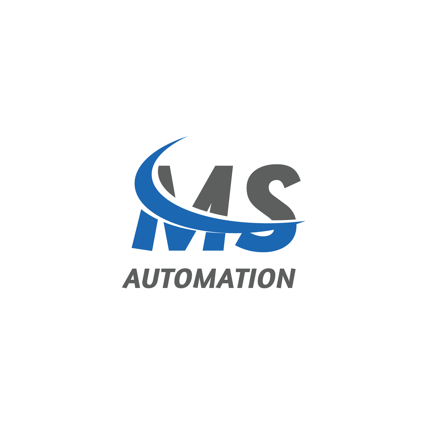 masculine modern it company logo design for ms automation by