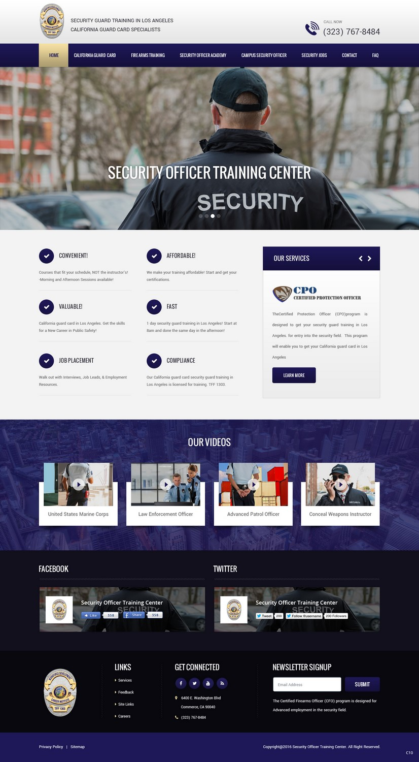 Conservative Modern Security Web Design For Public Safety Institute By Pb Design 11380857