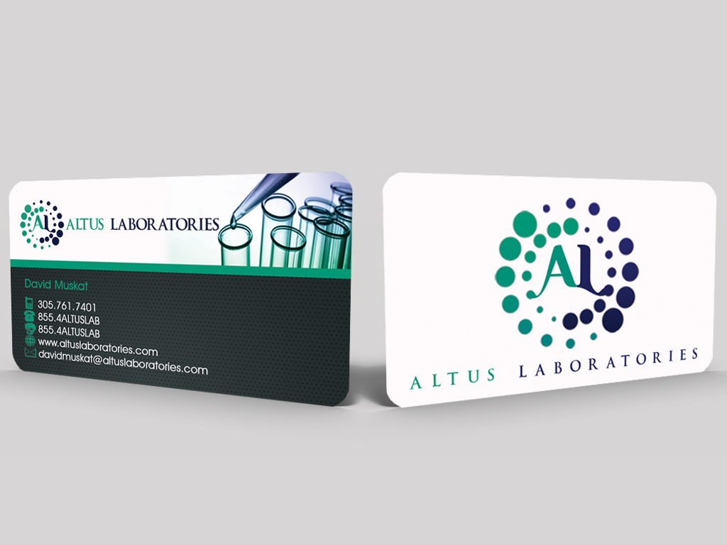 5 professional business card designs laboratory business card business card design by sandun harshana for altus labs design 2359261 reheart Image collections