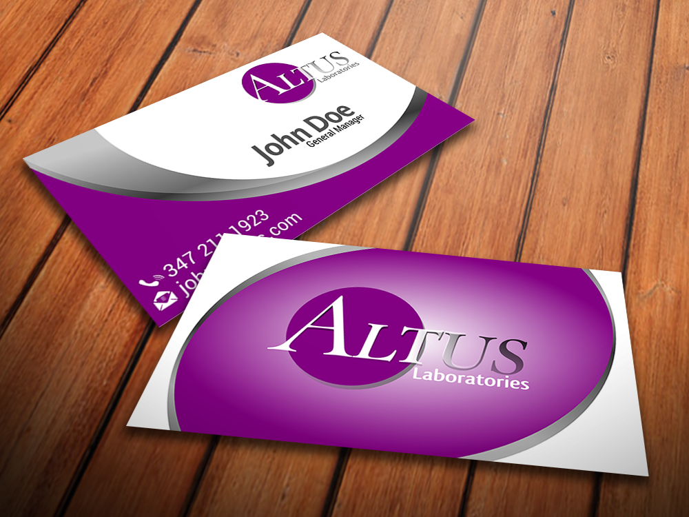 5 professional business card designs laboratory business card business card design by giovanni for altus labs design 2352935 reheart Image collections