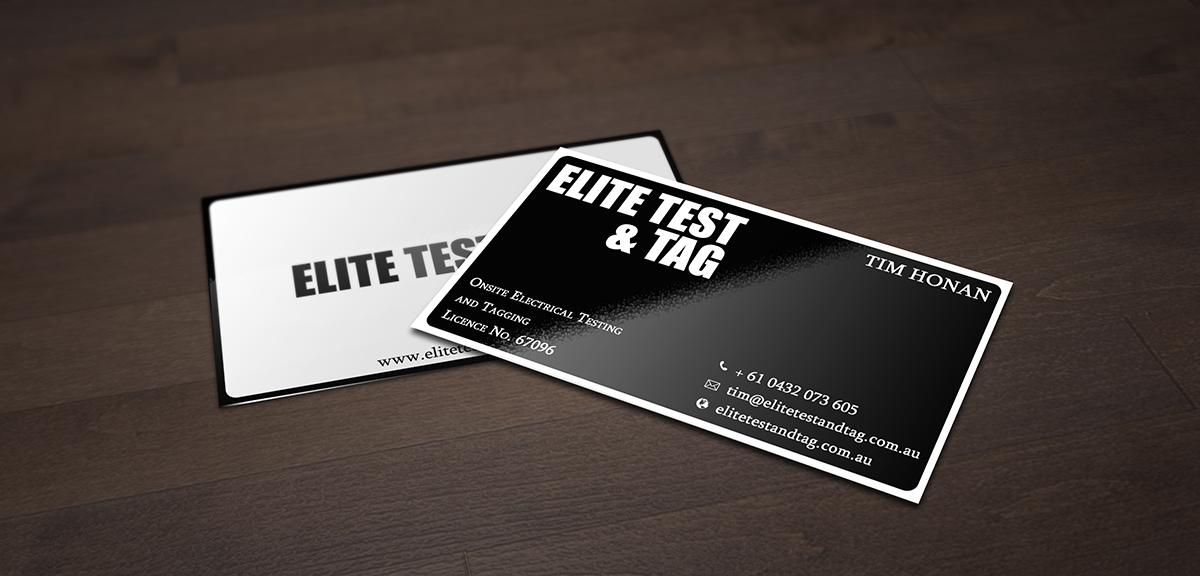 Elegant playful appliance business card design for elite test and business card design by john doe for elite test and tag design 2371118 colourmoves