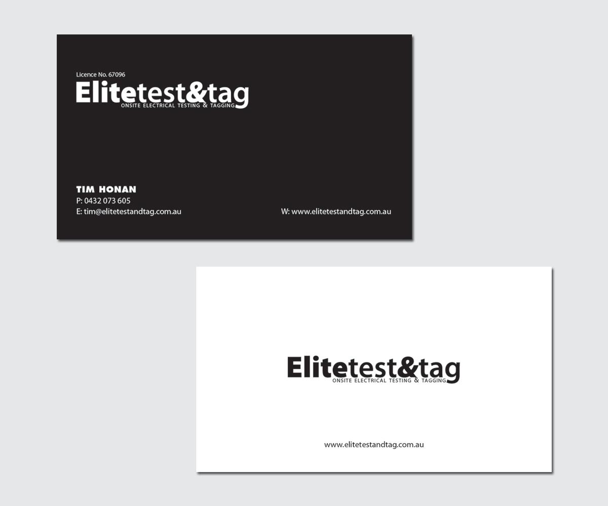 Design De Carte Visite Par Jebastine Pour Elite Test And Tag
