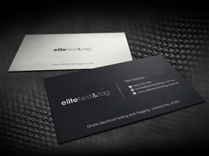 35 elegant business card designs appliance business card design business card design by logodentity for elite test and tag design 2377911 colourmoves