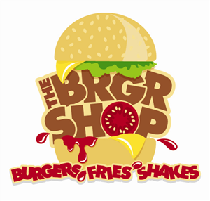 "Logo Design job – Burger restaurant..""THE BRGR SHOP"" Logo Design Project – Winning design by Bang The Drum Designs Ltd"