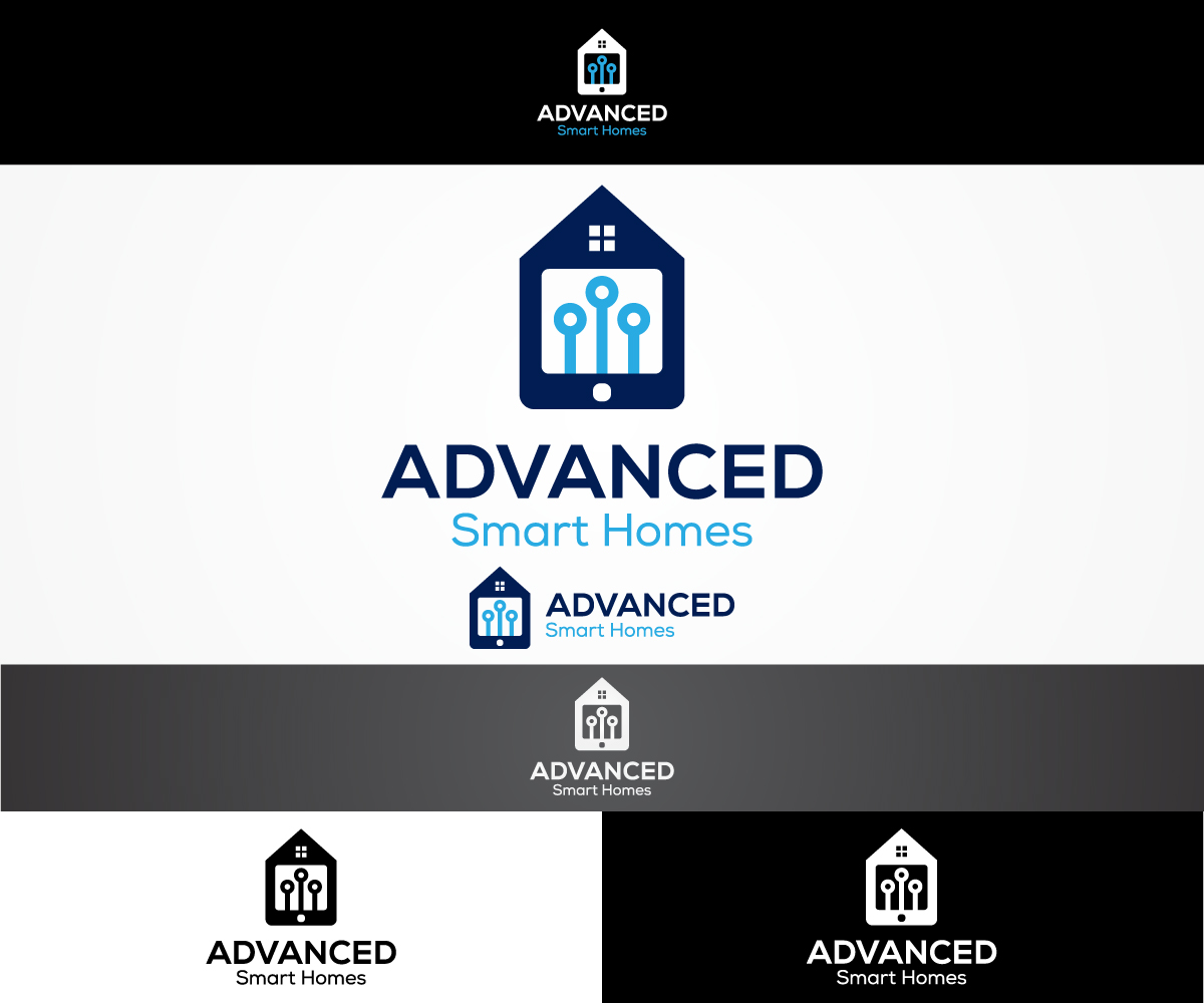 Elegant Playful It Company Logo Design For Advanced Smart Homes By