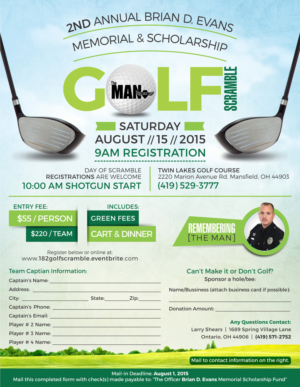 redesign charity golf outing flyer
