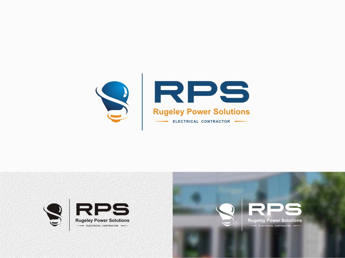 Upmarket, Bold, Electrician Logo Design for R P S Rugeley