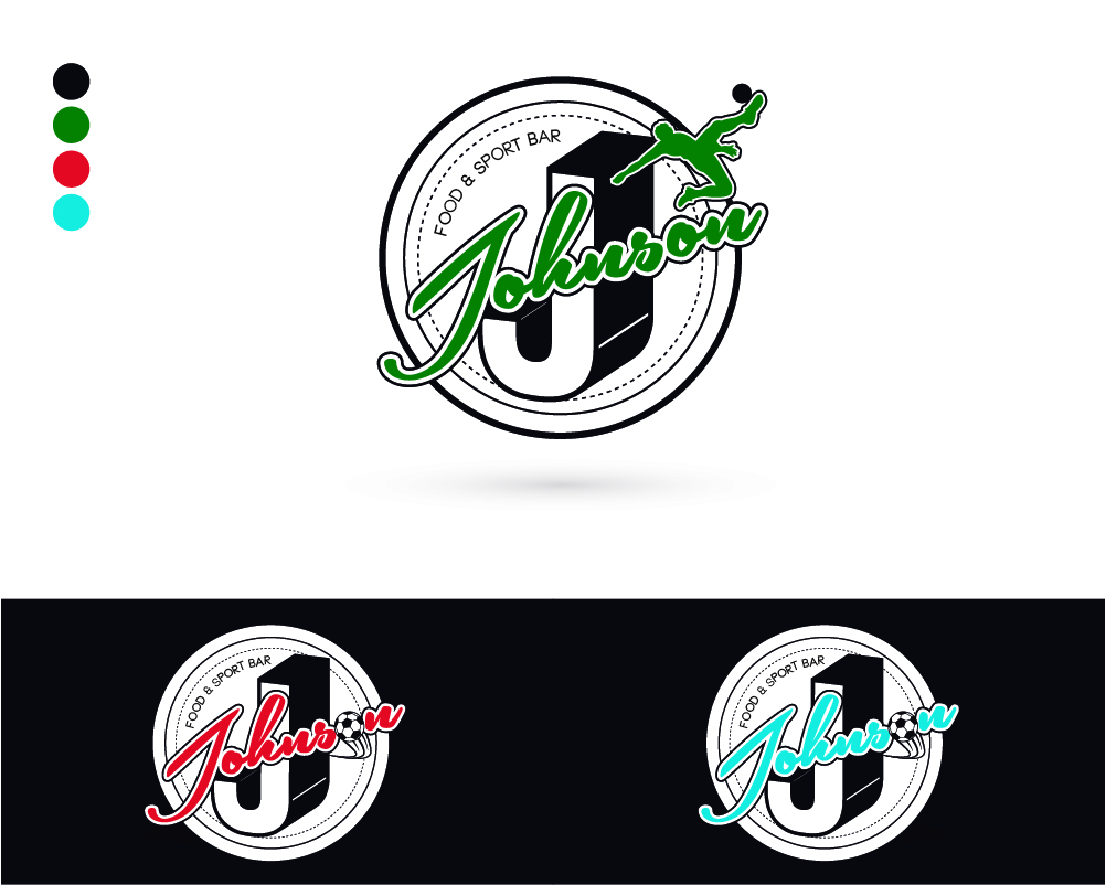 Playful, Colorful, Sports Bar Logo Design for J. Johnson by Marco ...