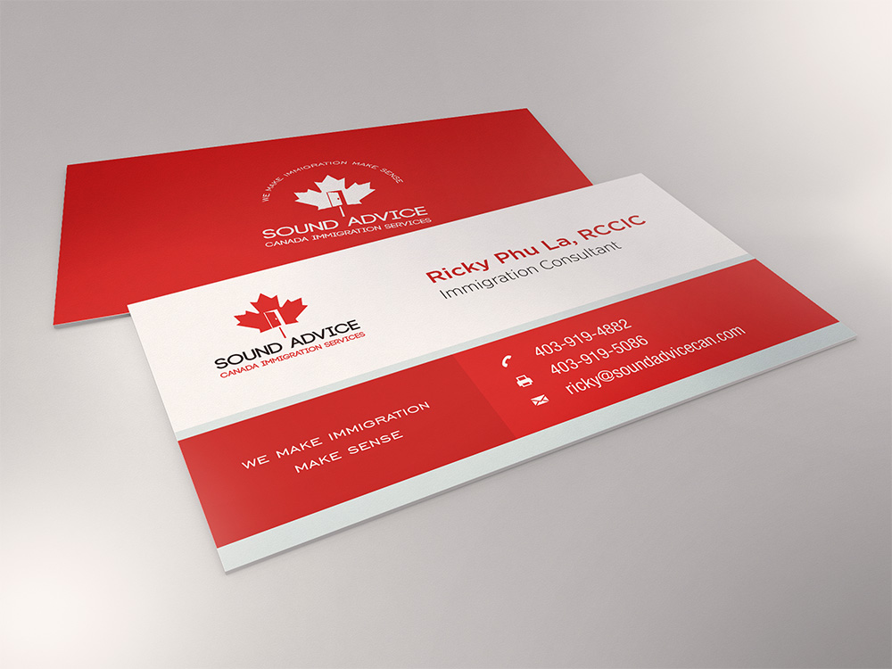 serious modern logo and business card design for ricky l by lee