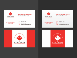 Consulting logo and business card design galleries for inspiration sound or sound advice canada immigration services logo and business card design by lee xian colourmoves