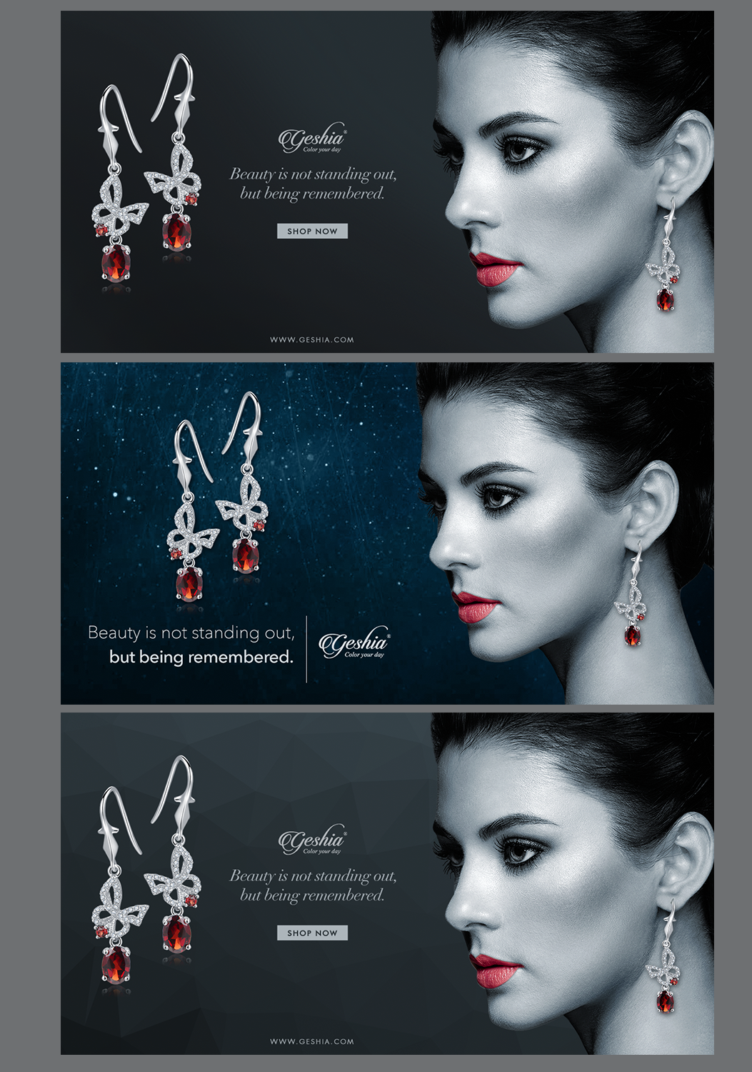 Jewelry banner ad design for geshia group inc by ravi k5 for Ad designs