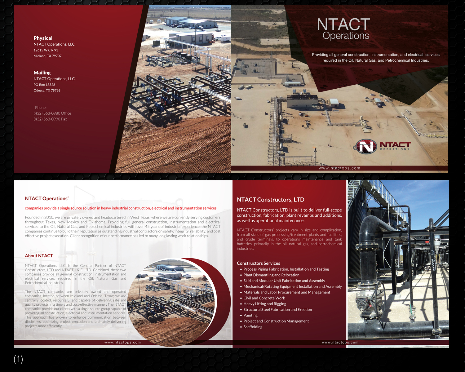 Professional, Masculine, Oil And Gas Brochure Design for a Company
