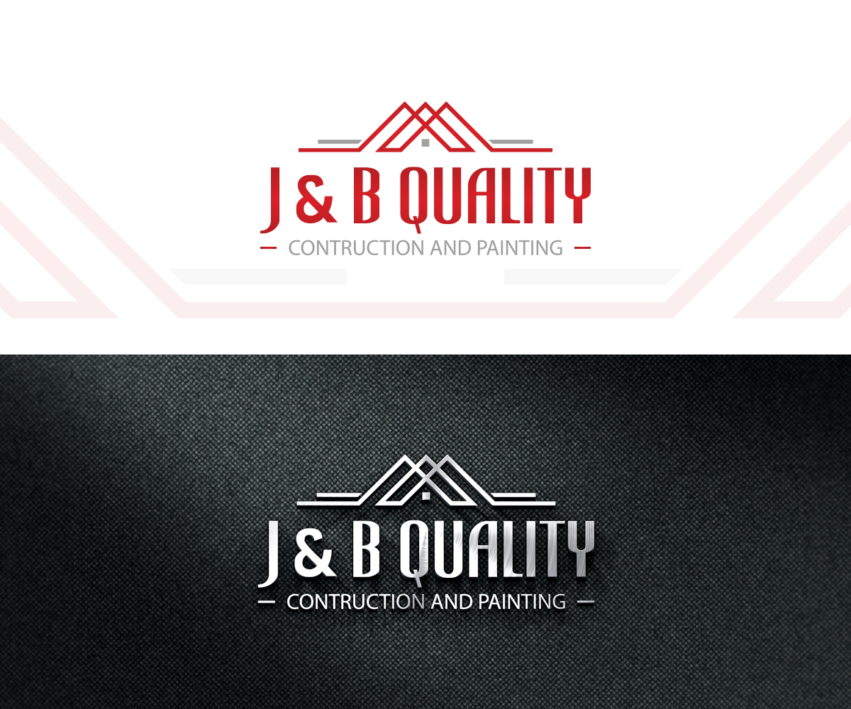 Professional, Modern, Construction Company Logo Design for J