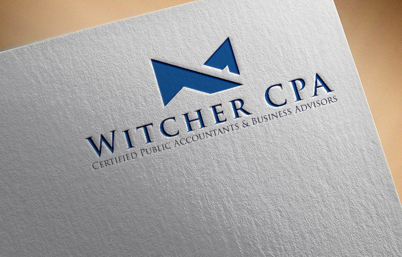 masculine upmarket accounting logo design for witcher cpa