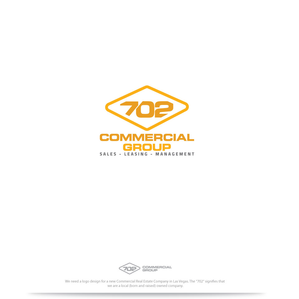Modern Professional Real Estate Logo Design For 702 Commercial