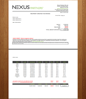 Elegant Playful Graphic Design For Nexus Partners By Macroads - How to design an invoice in excel
