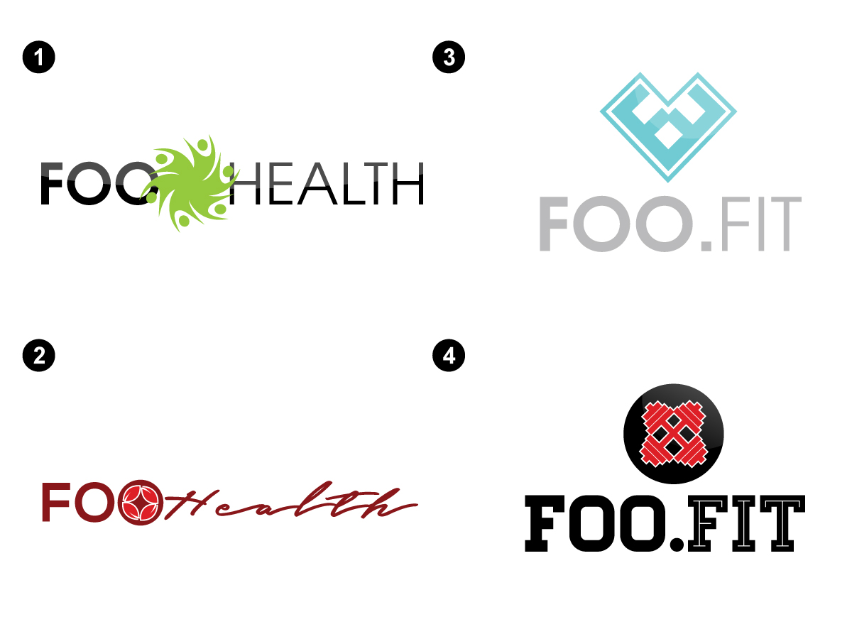 modern professional health and wellness logo design for foo fit