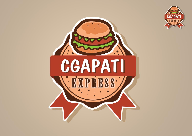 Elegant Playful Fast Food Restaurant Logo Design For Chapati