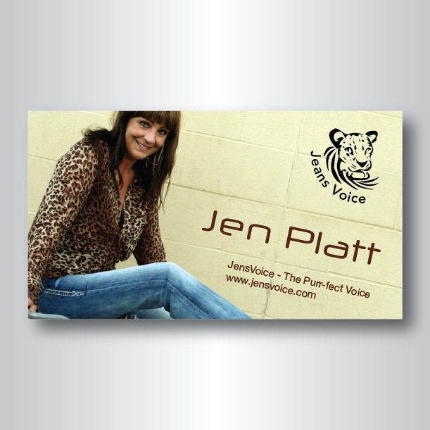 Business Card Design By Darkobovan For Jensvoice Voice Actor