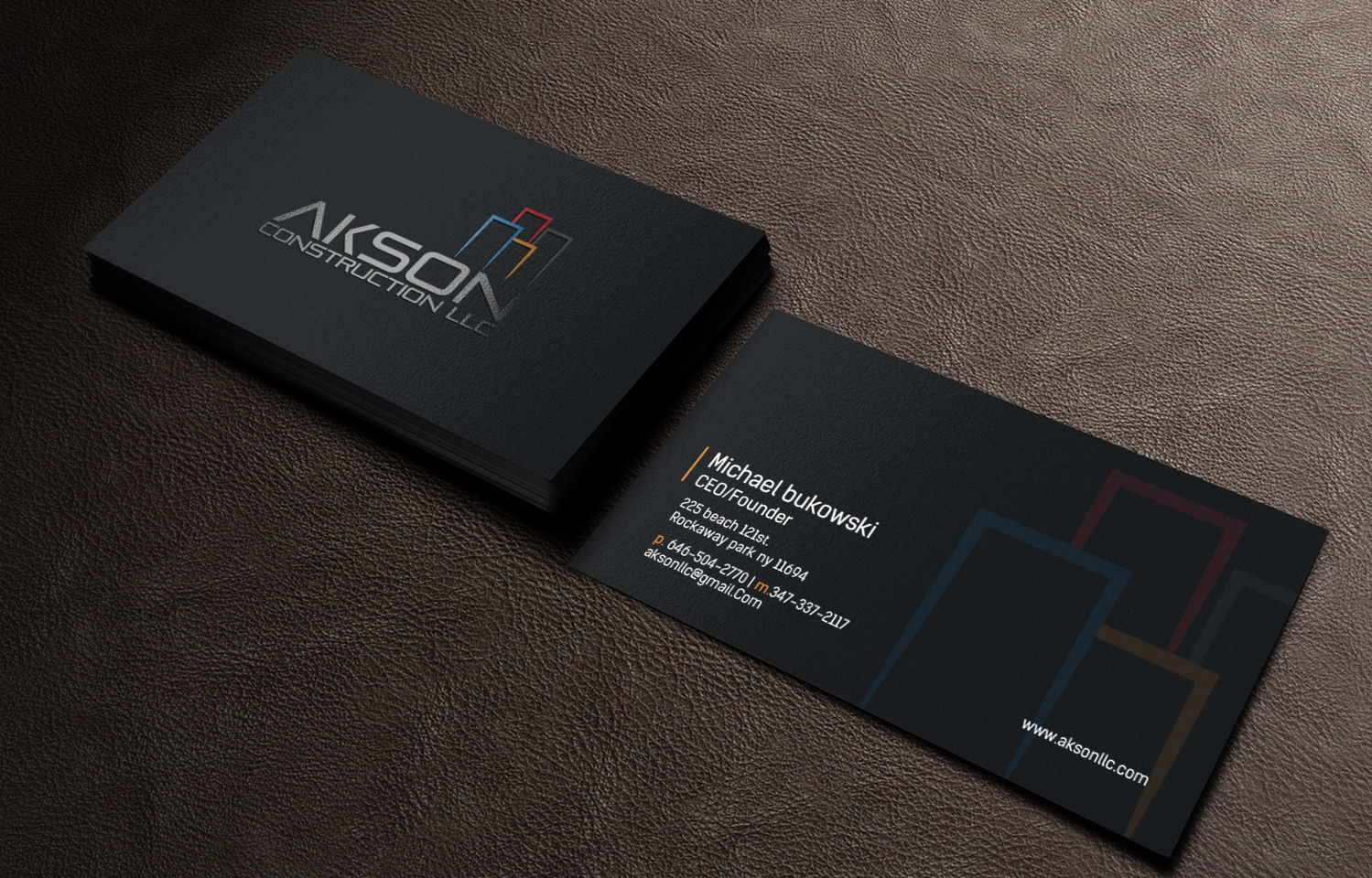 325 Serious Business Card Designs | Construction Business Card ...