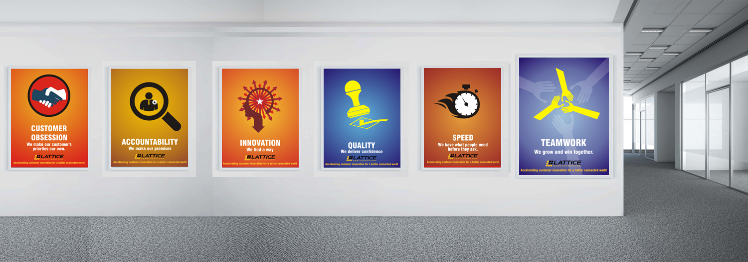 Poster design uk - Poster Design By Uk For Lattice Semiconductor Core Values Posters Icons Design 11546984