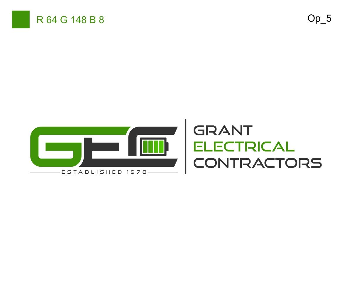 197 bold logo designs electrical logo design project for grant electrical. Black Bedroom Furniture Sets. Home Design Ideas