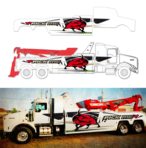 Graphic Design by kresh - Graphic Design Project for a tow truck (towing)