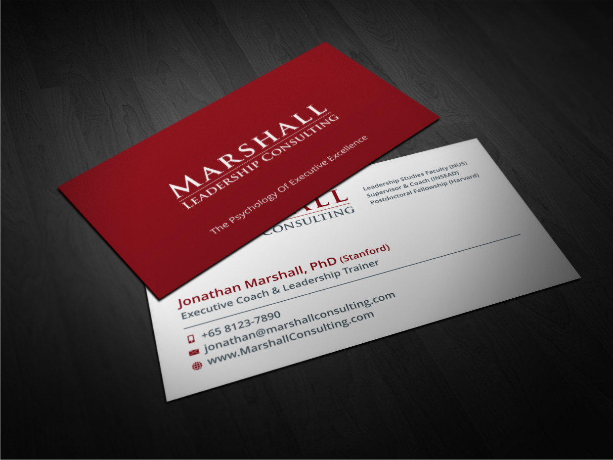 51 upmarket business card designs leadership business card design business card design by atvento graphics for marshall consulting pte ltd design reheart Choice Image