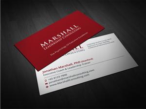 50 upmarket business card designs leadership business card design business card design by atvento graphics for marshall consulting pte ltd design colourmoves