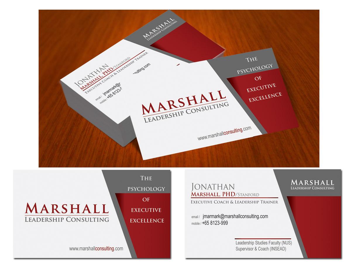 Upmarket, Serious, Leadership Business Card Design for Marshall ...