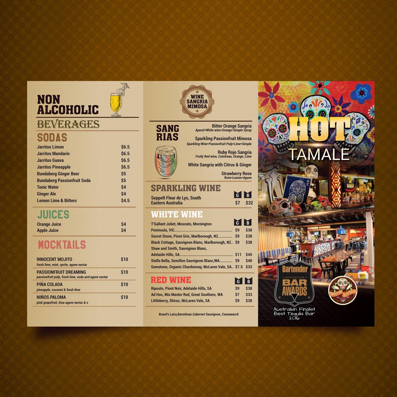 15 playful colorful restaurant menu designs for hot tamale