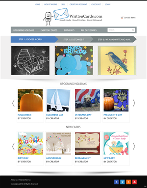 Web Design by pb - Online Greeting Card Marketplace redesign