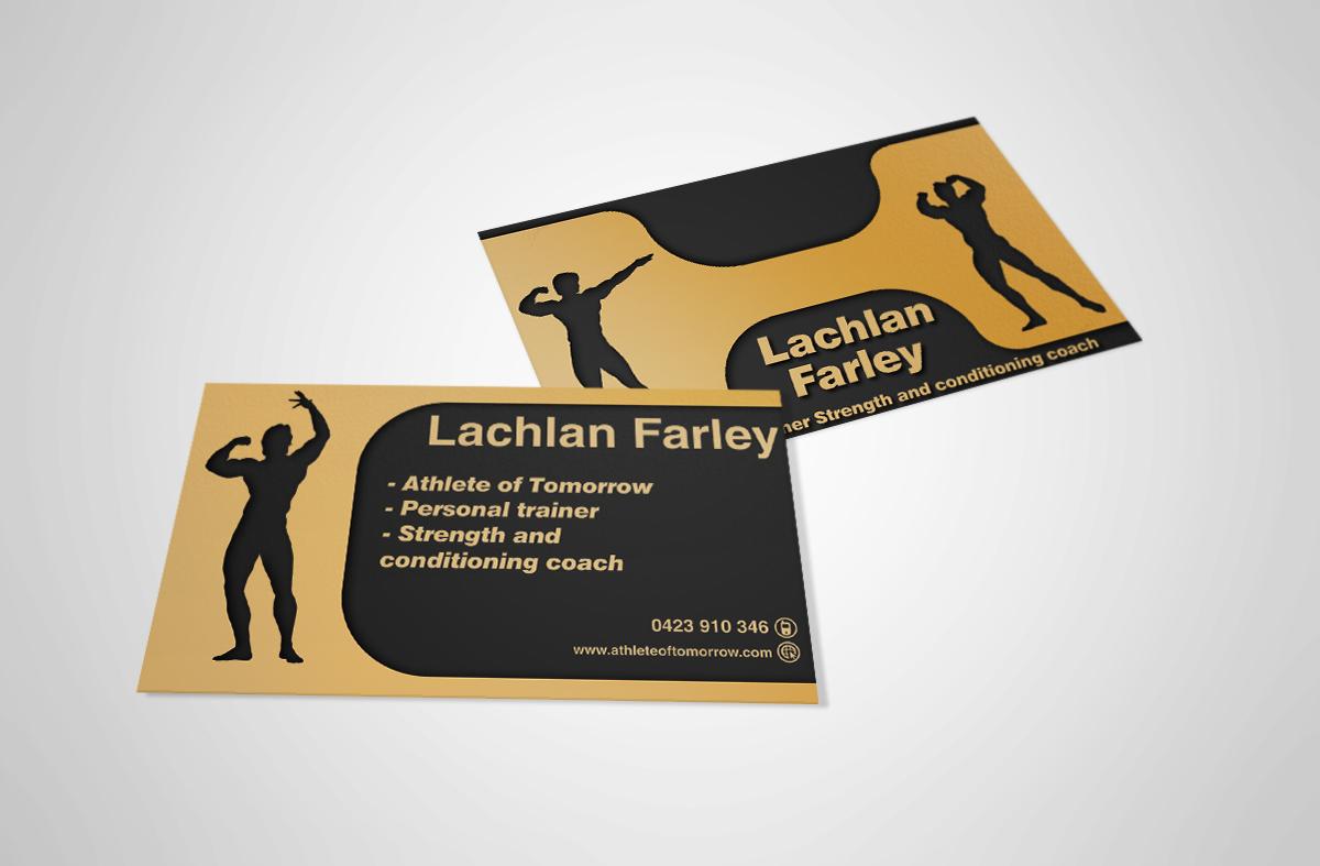 21 business card designs personal trainer business card design business card design by stefan for athlete of tomorrow design 2367623 colourmoves