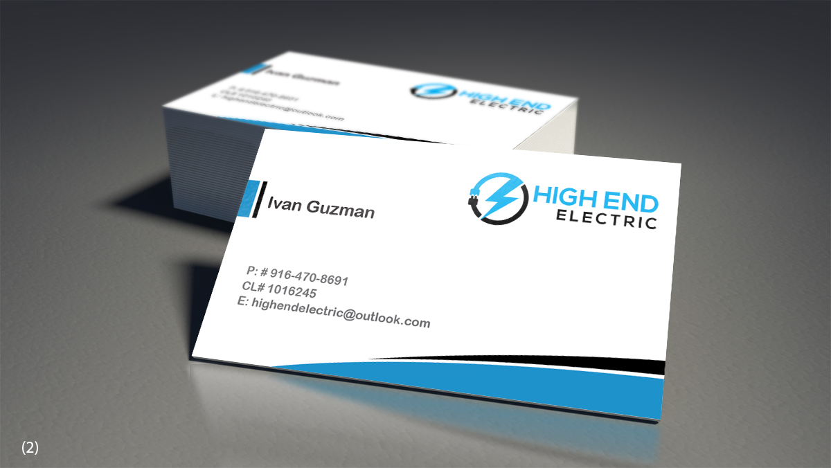 Professional bold business business card design for high end business card design by designanddevelopment for high end electric design 11582134 reheart Images